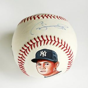 Gary Sanchez Hand Painted and Signed MLB Baseball in Display Case