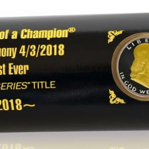 """Astros """"Crowning of a Champion"""" Commemorative Coin Bat"""